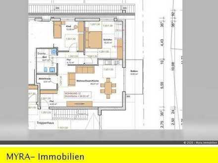 *Projektiert* DG-Wohnung Nr.12 mit Balkon und TG-Stellplatz - Barrierefreie & behindertengerecht *