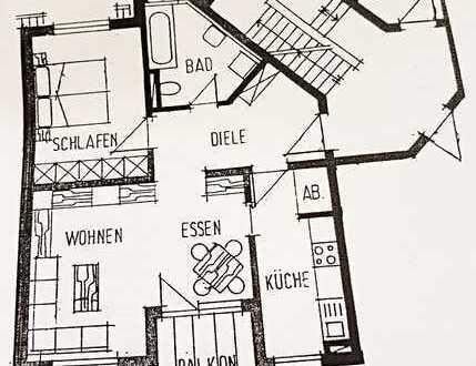 Provisionsfrei: Stilvolle, gepflegte 2,5-Zimmer-Wohnung mit Balkon + Tiefgarage in Vöhringen