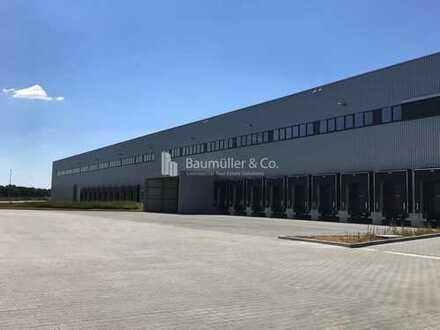 """""""BAUMÜLLER & CO."""" - 16.000 qm Logistikneubau - Rampe und ebenerdig"""