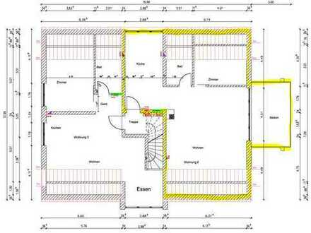 NEUBAU - Erstbezug: freundliche 2-Zimmer-Dachgeschosswohnung mit Balkon in Kaufbeuren