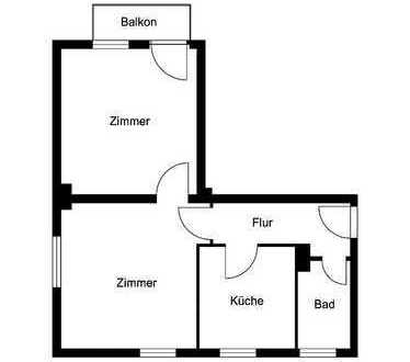 Erdgeschosswohnung für Singles!
