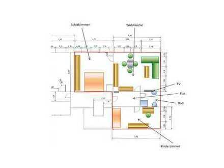 Modern sanierte Dreiraumwohnung im Zentrum von Marienberg zur Vermietung