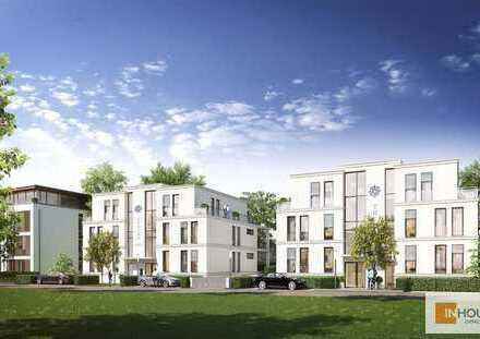 Moderne Designer-Obergeschosswohnung mit großem Balkon am Stadtquartier Südlich Marien