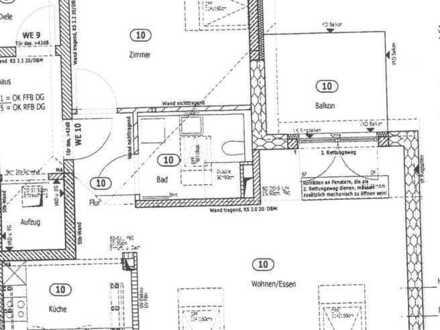 Erstbezug mit Einbauküche und Balkon: stilvolle 2-Zimmer-Dachgeschosswohnung in Stadecken-Elsheim