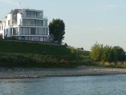 1. Rheinlage! Traumwohnung mit unverbaubarem Rheinblick und Garten in exklusivem Wohnambiente++DCS