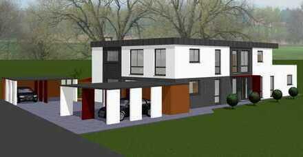 Kirchlengern - komfortable 3 Zi. EG-Neubau-Wohnung m. kl. Garten u. Terrasse - in einem 3-Fa.-Haus!
