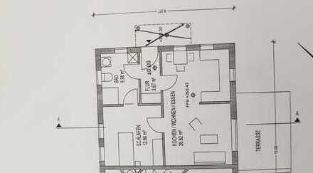 2-Zi-EG-Wohnung mit Terrasse und Einbauküche in Reichartshausen