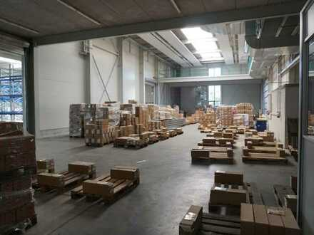 Neuwertiges Lager-/Produktionsgebäude: Hallenfläche: ca. 2270 qm, Büro ca. 630qm