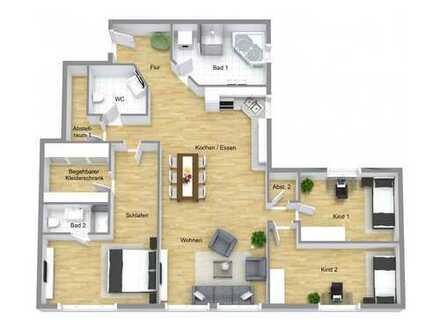 Kernsanierte 4,5-Zi-Wohnung mit 118 m² und Aufzug
