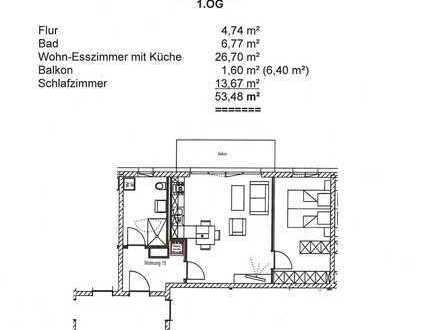 2-Zimmer-Wohnung mit West-Balkon in Memmingen