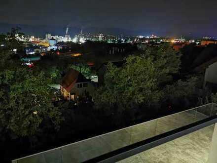 Neubau exklusiv Terrassenwohnung in Hanglage unverbaubarer Blick