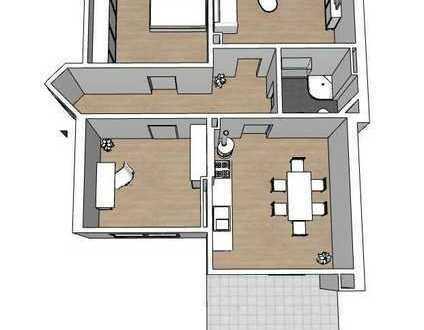 Sanierte 3-Zimmer Wohnung mit Terrasse in zentraler Lage