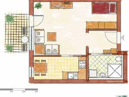 Wohnen im Matthäusstift.Barriere freie,sehr schöne 2 Zimmer Wohnung mit Terrasse und Ruhe.