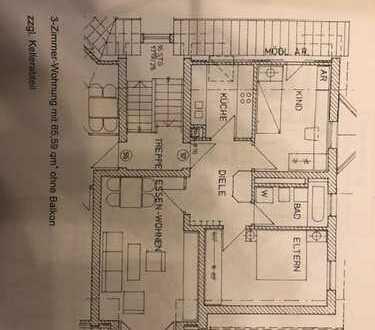 Stilvolle, gepflegte 3-Zimmer-DG-Wohnung in Buckenof