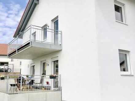 Familien aufgepasst! Exklusive NEUBAU Wohnung mit Balkon in Hirschenhausen Nähe S2 zu vermieten!
