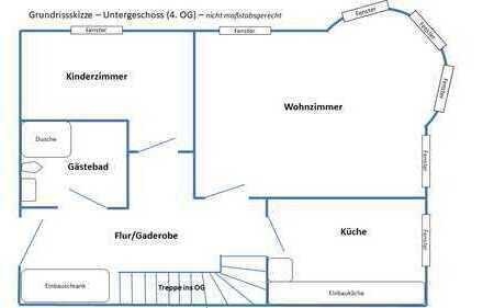Am Rosental, DG-Maisonette, 119qm, 4-Zimmer-Küche-2xBad
