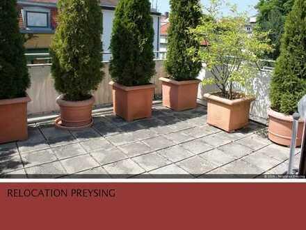 Ruhige 4- Zimmer Dachterrassenwohnung am Englischen Garten