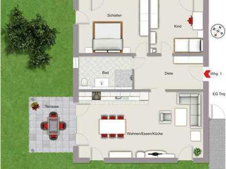 Neuwertige 3-Zimmerwohnung mit 2 KFZ-Stellplätzen in Pförring-Forchheim zu vermieten