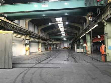 Direkt vom Eigentümer: Ebenerdige 2.090,00 m² Produktions-/ und Lagerhalle mit diversen Kranen