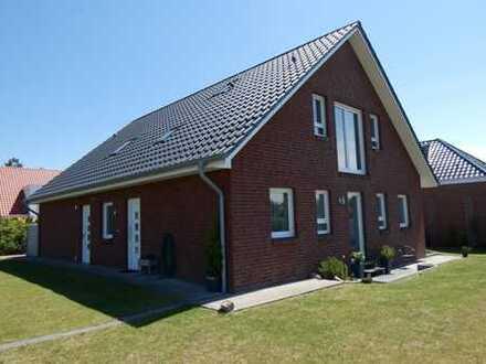 Doppelhaushälfte mit Blick auf die Felder vor Duhnen