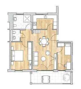 Neubau-Erstbezug: hochwertige 3-Zimmer-Wohnung mit Balkon in Kenzingen
