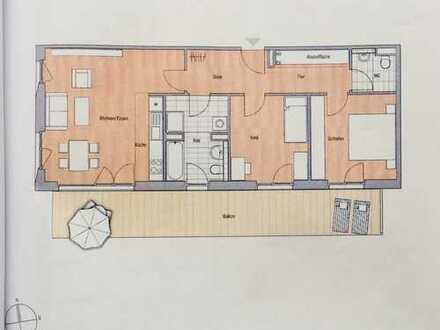 moblierte helle 3-Zimmer-Wohnung mit großem Südbalkon am Domagkpark