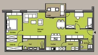 (662m) Eigentumswohnung mit Balkon