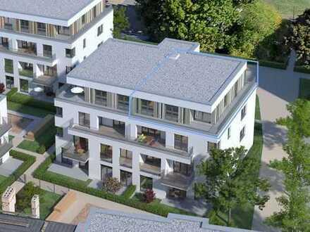 3-Zimmer-Penthaus, Gartenhaus 5, ca. 27 m² Süd-Dachterrasse