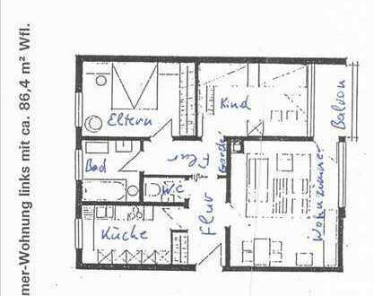 3 Zimmer Wohnung nähe Arburg