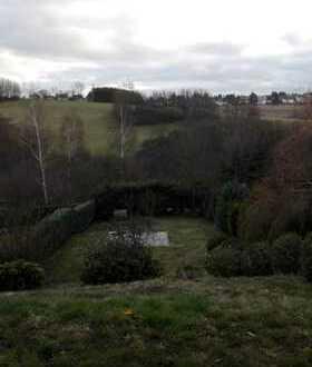 Moderne Doppelhaushälfte mit schönem Gartengrundstück in unverbaubarer Panoramalage