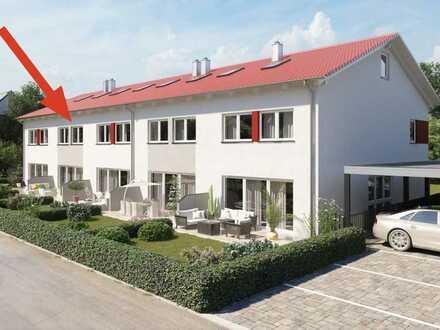 all inclusive - modernes 6-Zimmer-Reihenhaus mit Einbauküche, Carportstellplatz & Gartenhaus