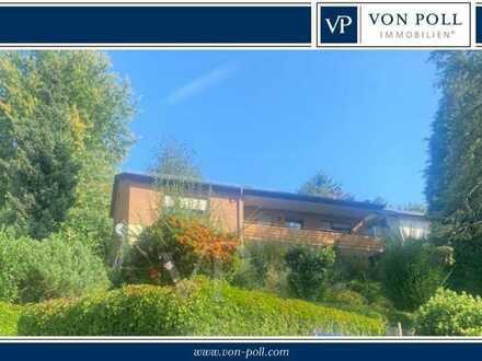 VON POLL Immobilien Zweifamilienhaus mit ELW und gr. Grundstück in ruhiger Aussichtslage von Ziegelh