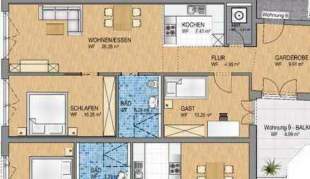 Stilvolle 3-Zi-Neubauwohnung in Zentrumsnähe