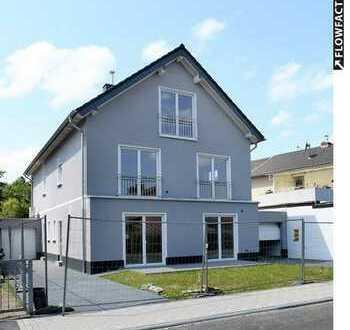 Freistehendes, helles & großzügiges Architekten-DH: 2 Einheiten, 2 Gärten, 2 Garagen. In Bonn.
