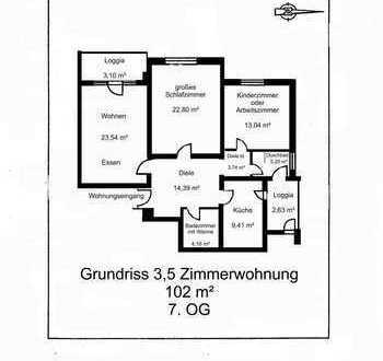 Moderne Wohnung mit Blick über Wiesbaden