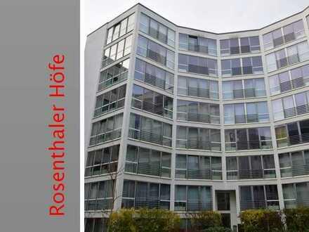 Wohnen in den Rosenthaler Höfen (Spandauer Vorstadt), Studiowohnung, 6.OG, sehr hell, möbliert