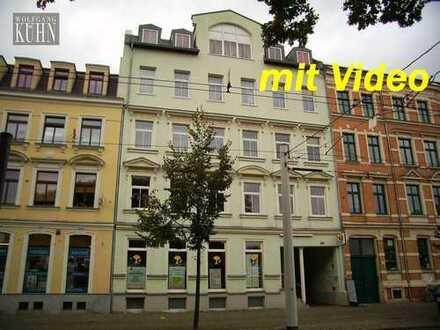 Tolle Wohnung 3-Raum-Wohnung am Neumarkt, neu renoviert mit Balkon und Fahrstuhl