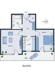 1.299 €, 59 m², 2 Zimmer