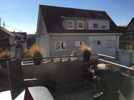 TOP-MAISONETTE-WOHNUNG mit großem Balkon und Garage in zentraler Lage