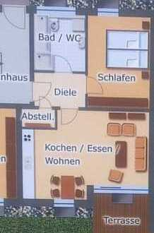 Schöne zwei Zimmer Wohnung in Deggendorf mit Terrasse