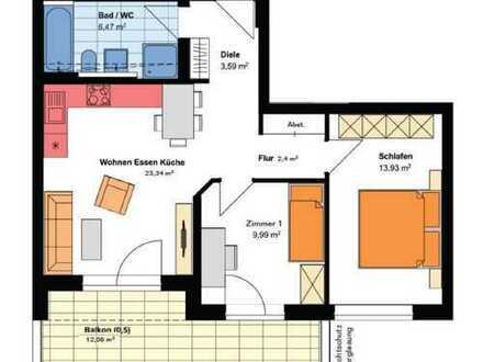 *NEUBAU - Kompakte 3-Zimmer-Wohnung mit Balkon*