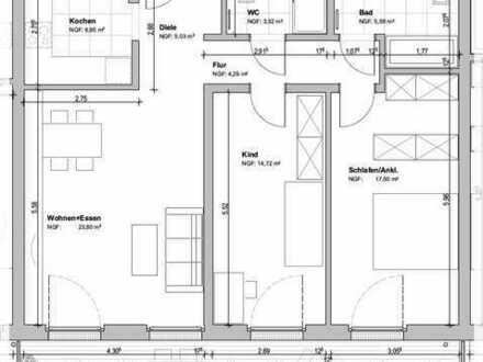 Exklusive 3-Zimmerwohnung mit großen Balkon und EBK auf der Südhöhe! Fertigstellung Oktober 2019!
