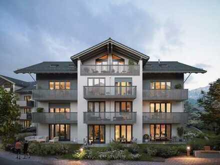 Kompakte 2-Zimmer-Wohnung mit sonnigem Balkon umgeben vom schönen Alpenpanorama