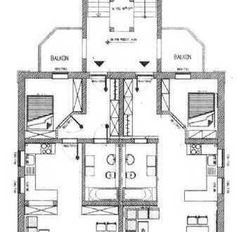 Ansprechende 2-Zimmer-Wohnung mit Balkon und Einbauküche in Borna