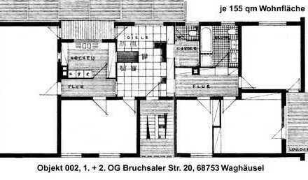 5 ZKB Wohnung in Waghäusel 155m² mit Loggia