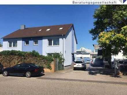 KA-Mühlburg: Großzügige Gewerbehalle sowie Wohngebäude mit drei Wohnungen