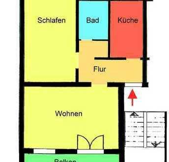 Schicke, moderne top 2 Zimmer mit Balkon