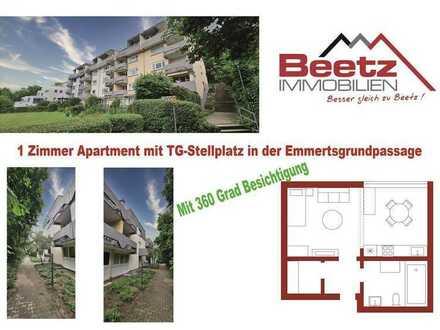 Gut vermietetes 1 Zimmer Apartment in der Emmertsgrundpassage zu verkaufen
