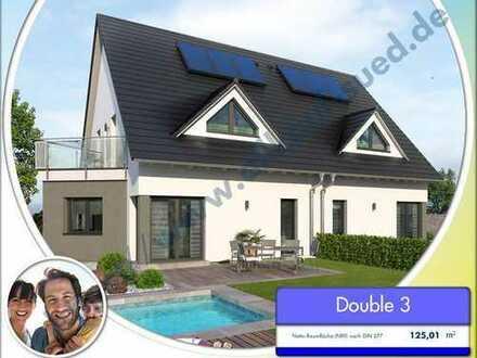 Doppelhaus-Hälfte für die ganze Familie, inkl. Bauplatz u. Garage