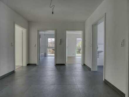 NEUBAU IN HALLSTADT - Traumhafte 3-Zimmer EG Wohnung mit Terrasse und Garten in ruhiger Lage